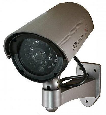 Telecamera finta videosorveglianza con staffa per esterno for Telecamere x esterno